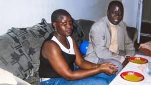 Okello Akway with wife