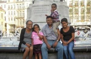 Andargachew Tsige with Family