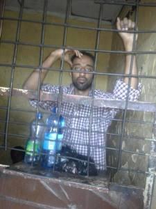 Elias Gebiru in prison