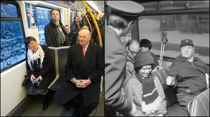 King Harald & King Olav in Oslo tram