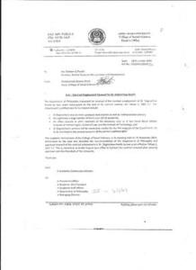 Dr. Daggnachew's letter