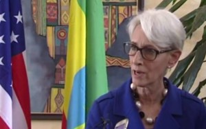 Wendy Sherman US under Secretary of State for poltical Affairs spok in Addis Aeba Ethiopia
