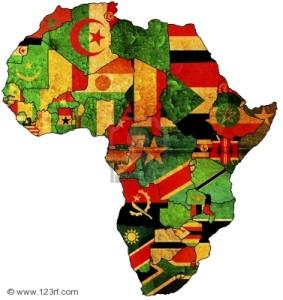 Africa Flag Map