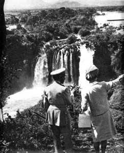 Haile Selassie with Queen Elizabeth II visiting Blue Nile in 1965