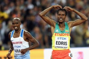 Muktar Edris beats Mo Farah 5000m Men Final IAAF World Champs London 2017 (Video)Muktar Edris beats Mo Farah 5000m Men Final IAAF World Champs London 2017 (Video)
